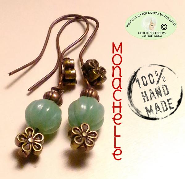 orecchini con perle di giada