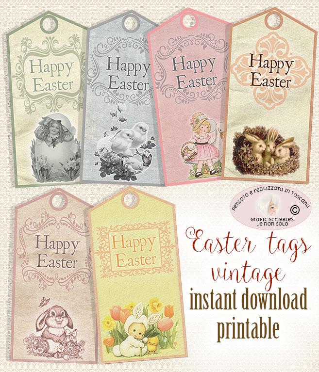 labels, Easter decorations, decorations, gift tags, cards, business