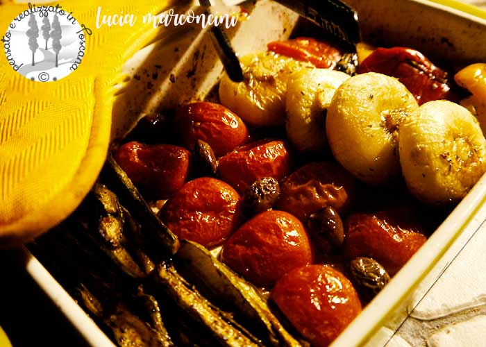 strisce-colorate-di-verdure-al-forno