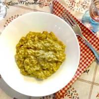 Risotto con broccoli speck e curcuma